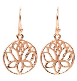 Lotus oorbellen roze goudkleur