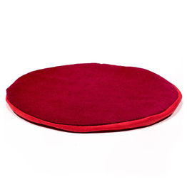 Klankschaalkussen plat rond rood 20cm