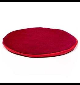 Klankschaalkussen plat rond rood 15cm