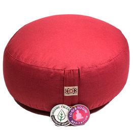Meditatiekussen rood lager model bio 2200gr, 33x12cm