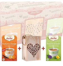 geschenkset yogi tea 'do good bee happy'