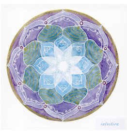 Inner Peace Soulflower Mandala-Kaart, 14,7 x 14,7cm