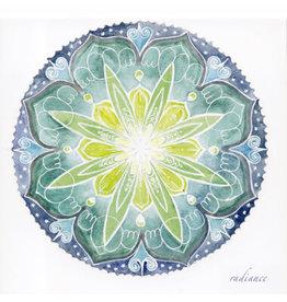 Radiance Soulflower Mandalakaart, 14,7 x 14,7cm