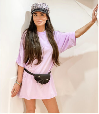 Fashion Zwart / roze pet