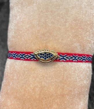 Fashion Armband rood eye