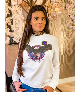 PiNNED by K Eagle sweater wit