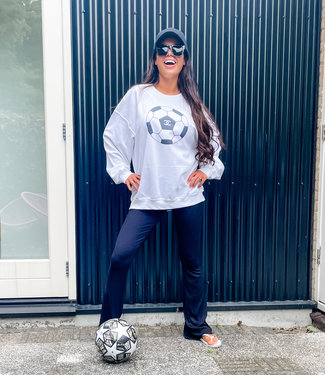 Oversized voetbal sweater