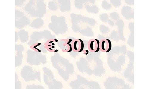 < € 30,- Items