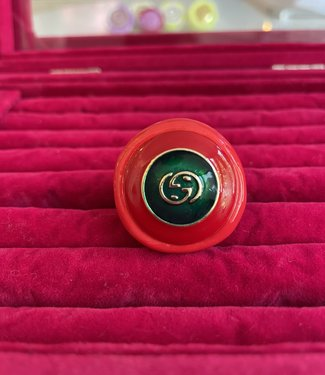 Statement ring groen rood