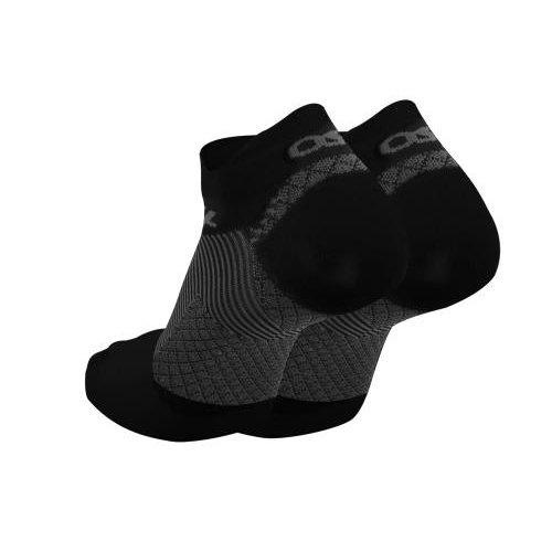 OS1st Plantar fasciitis Socks, No Show Black