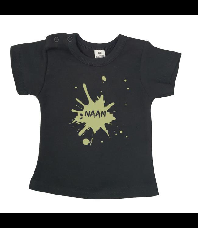T-shirtje Zwart met tekst