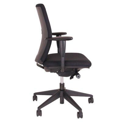 MN Juliet Bureaustoel NEN-EN 1335 Zwarte Stof Zwart Voetkruis