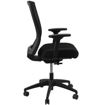 MN Ergo Net Bureaustoel Zwart Netweave rugleuning 3D armleggers