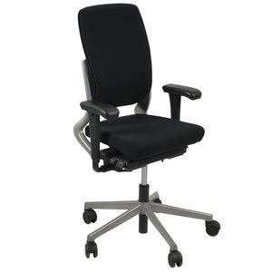 Ahrend 230 Bureaustoel Hoge Rug Zwart Grijs Nieuwe Stoffering