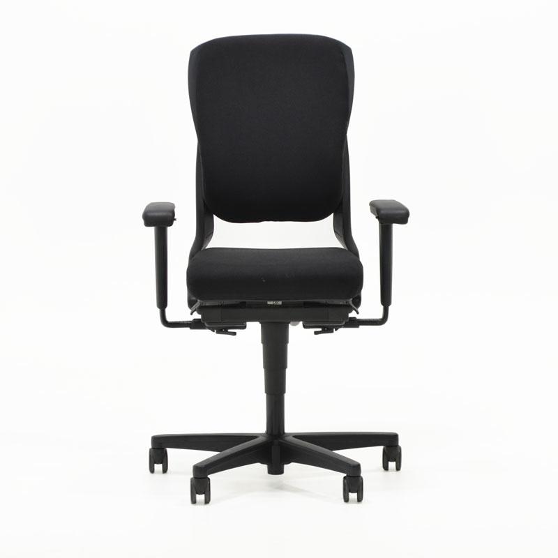 Ahrend 230 bureaustoel extra hoge rug met kunststof zwart