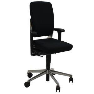 Ahrend 230 Bureaustoel Hoge Rug Zwart Chroom  Nieuwe Stoffering