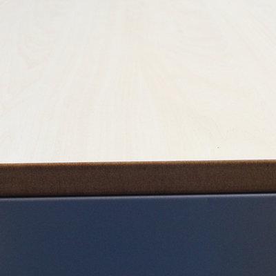 Ahrend Roldeurkast Zilvergrijs Ahorn Topblad H145xB120xD45