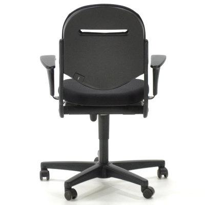 Ahrend 220 Bureaustoel Zwart Nieuwe Stoffering Schuifzitting Kantelbare Rugleuning