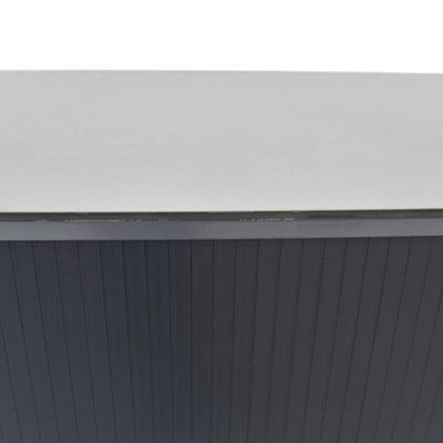 Ahrend Roldeurkast Zilvergrijs Zwart Lichtgrijs H108xB80xD45