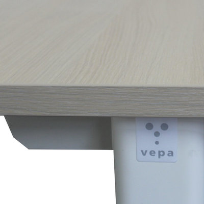 Vepa Slingerbureau Licht Eiken Wit B160xD80