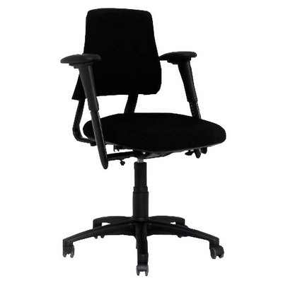 BMA Axia Bureaustoel Zwart Lage Rug 3D