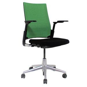 Ahrend 2020 Bureaustoel Zwart Groen Netweave Nieuwe Stoffering