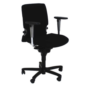 Comforto 7783 Bureaustoel Zwart Nieuwe Stof Zwart Voetkruis
