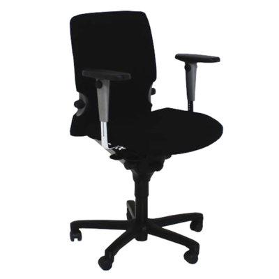 Comforto 7783 Bureaustoel Zwart Nieuwe Stof Zwart Voetkruis 3D Harde Armleggers