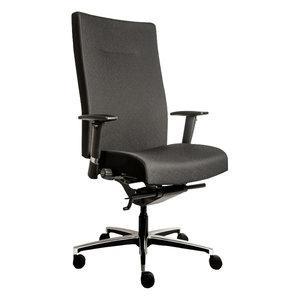 MN Manager XL Bureaustoel Zwart Chroom
