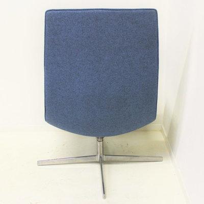 Arper Catifa 70 Design Fauteuil Blauw Chroom