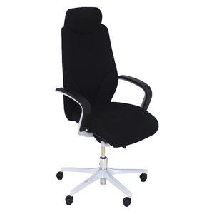 Giroflex 64 Bureaustoel Zwart Smal Arm Met Hoofdsteun
