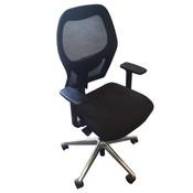Ahrend 160 Bureaustoel Zwart Chroom Netweave