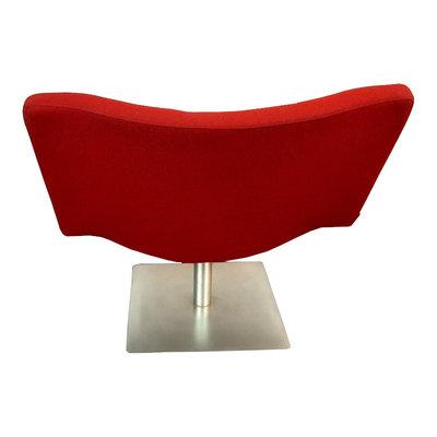 Tonon Wave Design Fauteuil Rood Geborsteld Chroom