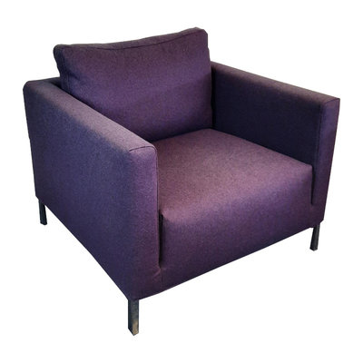 Design Fauteuil Paars Chroom