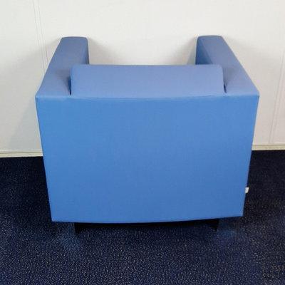 BN Office Solutions Studio Design Fauteuil Blauw/Paars Chroom
