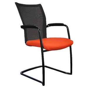 Comforto DX9968 Slede Vergaderstoel Oranje Zwart