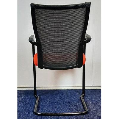 Comforto DX9968 Slede Vergaderstoel Oranje Zwart Sledeframe