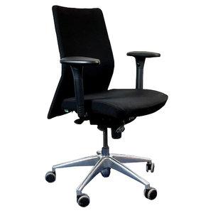 Franch Dorso Plus Bureaustoel Zwart Chroom