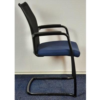 Comforto DX9968 Slede Vergaderstoel Blauw Zwart