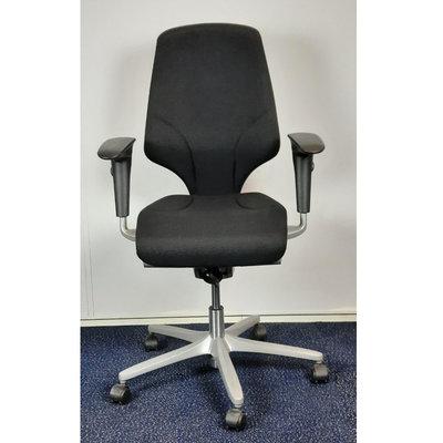 Giroflex 64-7578  Bureaustoel Zwart Brede Arm Nieuwe Stof Grijs Voetkruis