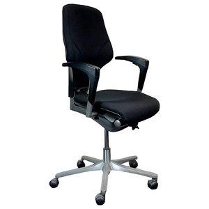 Giroflex 64 Bureaustoel Zwart Nieuwe Stof Lage Rug