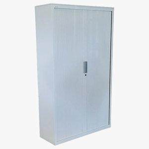 Steelcase Roldeurkast Wit 198 x 120 x 43