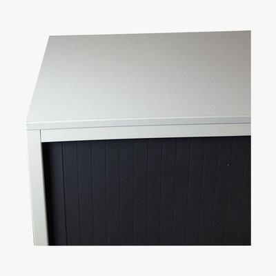 Ahrend Roldeurkast Lichtgrijs Zwart 109 x 120 x 45 2 Legborden