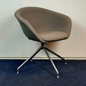 Arper Duna Design Stoel Chroom Grijs