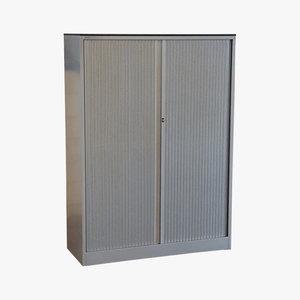 Ahrend Roldeurkast Zilvergrijs 160 x 120 x 45