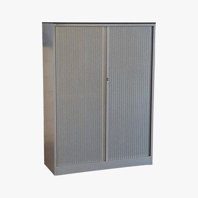Ahrend Roldeurkast Zilvergrijs 160 x 120 x 45 3 legborden