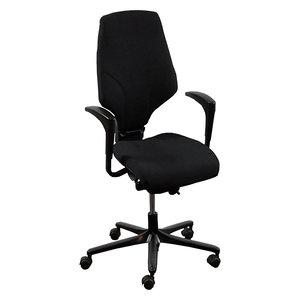 Giroflex 64 Bureaustoel Zwart Smal Arm Nieuwe Stof