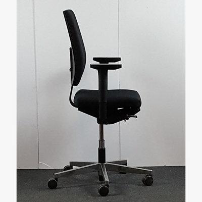 Sedus Yeah! Bureaustoel Zwart Chroom Nieuw Gestoffeerd