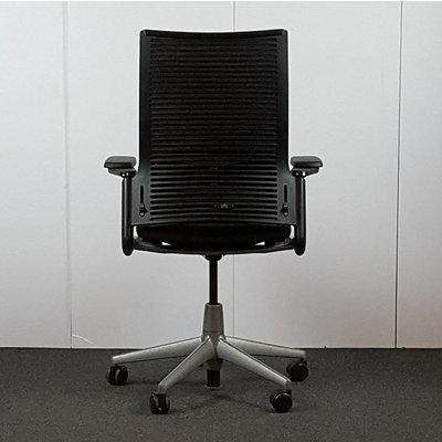 Ahrend 2020 Bureaustoel Zwart Lichtgrijs NPR1813 Nieuw Gestoffeerd
