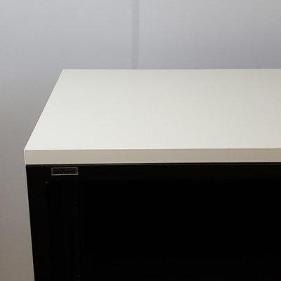 Ahrend Roldeurkast Zwart Wit 75 x 120 x 45